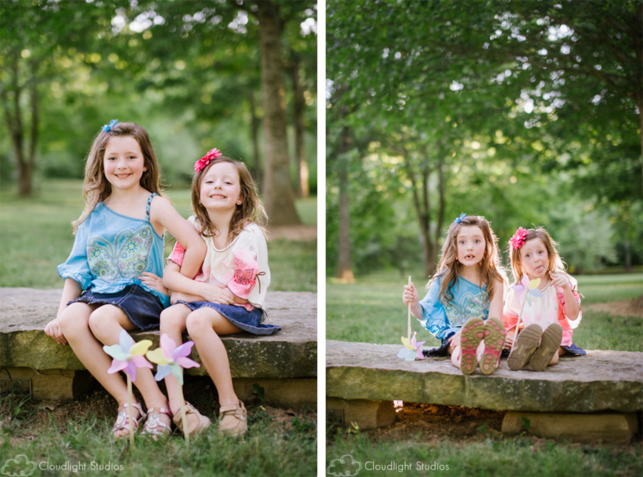 Pinwheel Props in Family Photos